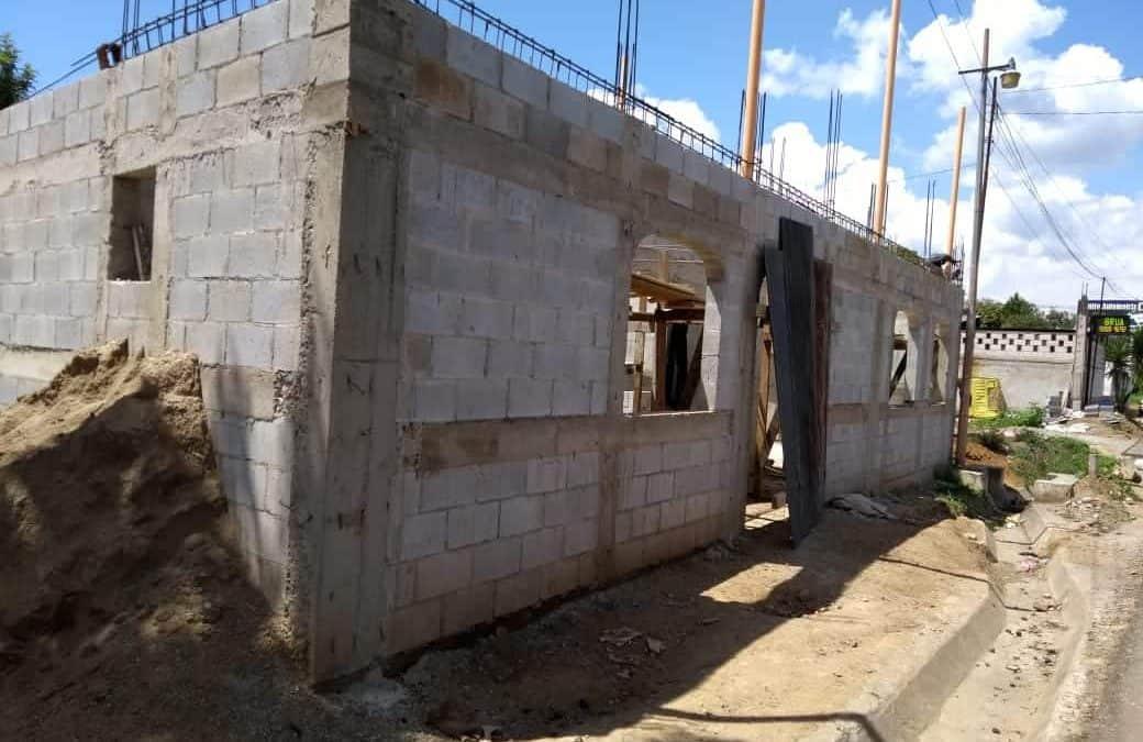 Voortgang bouw van het Healingcenter IXPIYAKOK IXMUKANE